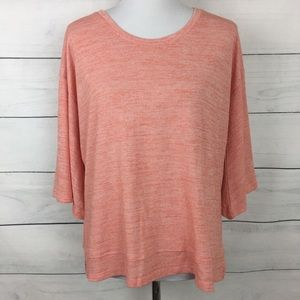 Anthropologie Sunday in Brooklyn Coral Top